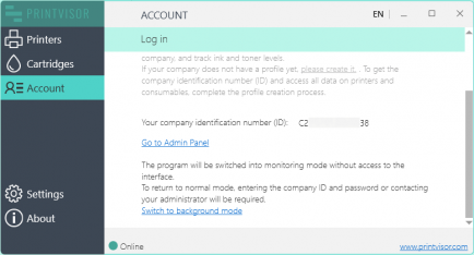 Monitor all printers in your company account